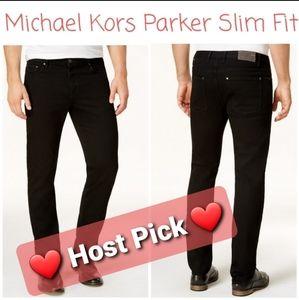 👖 NWT‼️ Michael Kors Men's Parker Slim Fit Jeans